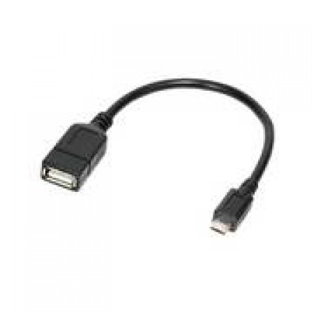 ADAPTADOR MICRO USB B/M USB A/F - OTG 0.20M
