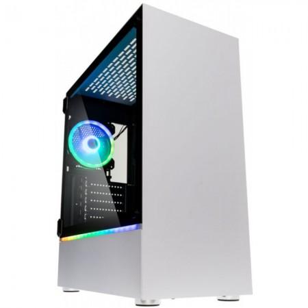 CX ATX Kolink Bastion Branca RGB Preto Vidro Temperado