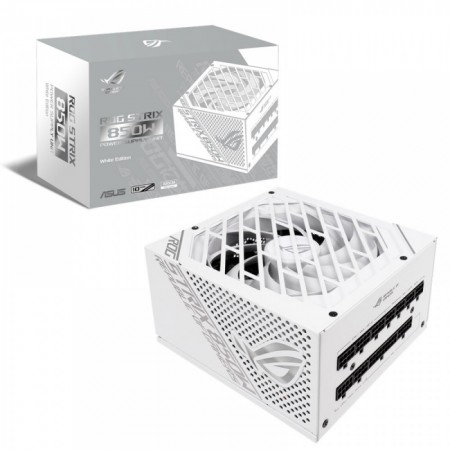 Fonte Asus ROG STRIX 850W 80 PLUS Gold Fully Modular - White Edition