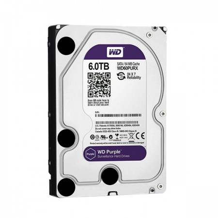 HDD 3.5P WD PURPLE 6TB INTELLIPOWER 64MB SATA3 - WD60PURX