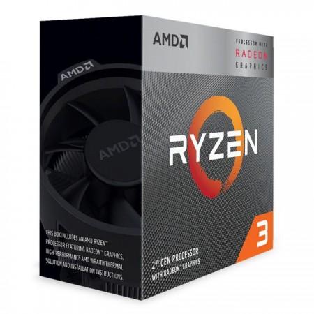 CPU AMD RYZEN 3 3200G AM4 3.6 A 4.0GHZ 6MB 4C4T 65W VEGA 8 BOX