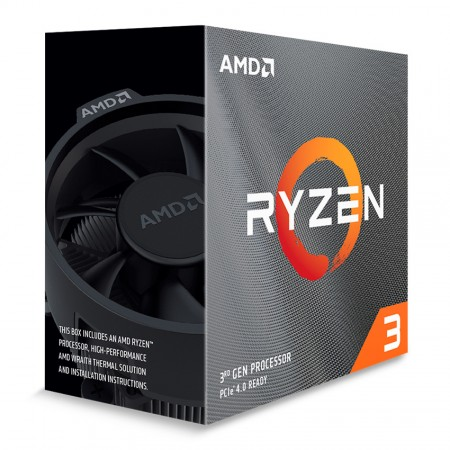 CPU AMD AM4 RYZEN 3 3100 3.6 A 3.9GHZ 18MB 4C8T 65W BOX