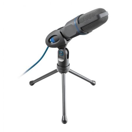 Microfone TRUST USB, ESTILO ESTÚDIO COM TRIPÉ - 23790