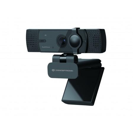 WebCam CONCEPTRONIC 4K Ultra HD Autofocus, Dual Microphone AMDIS07B