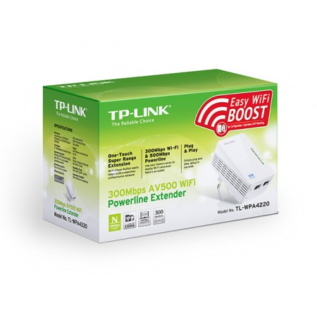 POWERLINE TP-LINK 500Mbps TL-WPA4220KIT wireless 300MPS
