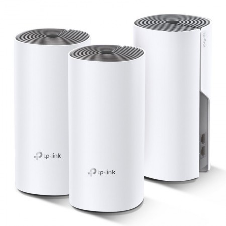 Router TP-Link AC1200 Whole-Home Mesh Wi-Fi Dual-Band 867 Mbps - Deco E4 (Pack3)