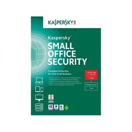 ANTIVIRUS KASPERSKY SMALL BUISENESS SECURITY 5PC'S 1 SERVER, 5 MOBILES - BOX RETAIL
