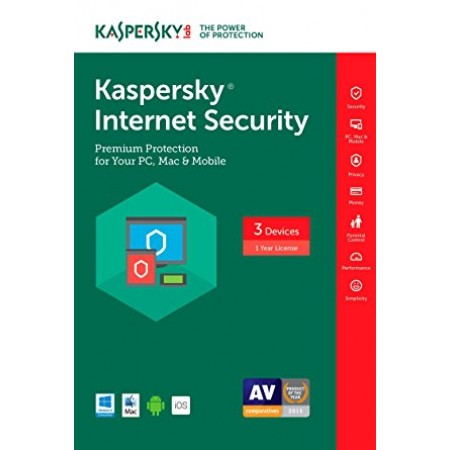 ANTIVIRUS KASPERSKY INTERNET SECURITY 3 USER 1 ANO
