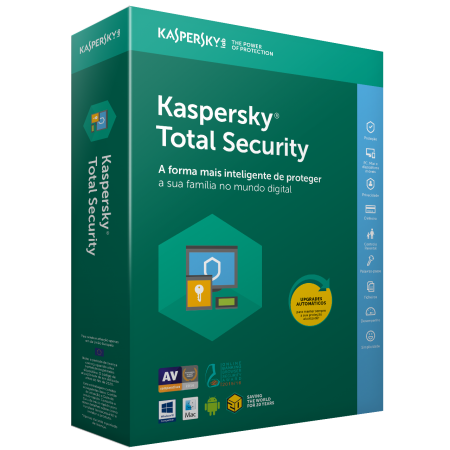 ANTIVIRUS KASPERSKY TOTAL SECURITY 1 ANO, 2 UTILIZADORES