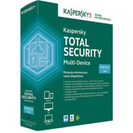 ANTIVIRUS KASPERSKY TOTAL SECURITY 3 USERS 1 ANO